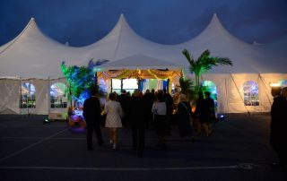 colorful tent event