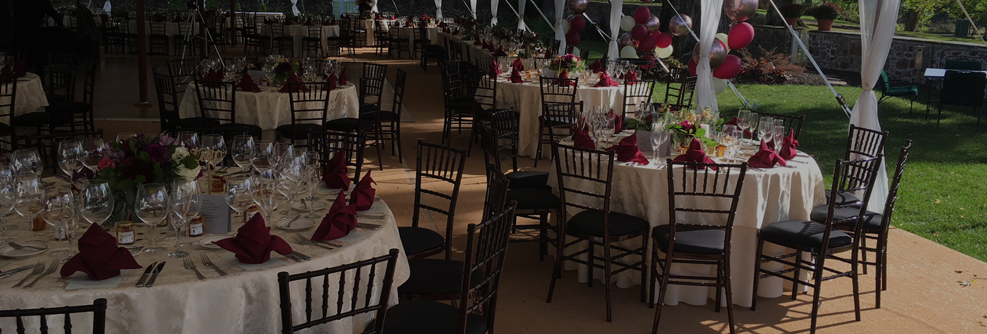 tables & chairs with place setting