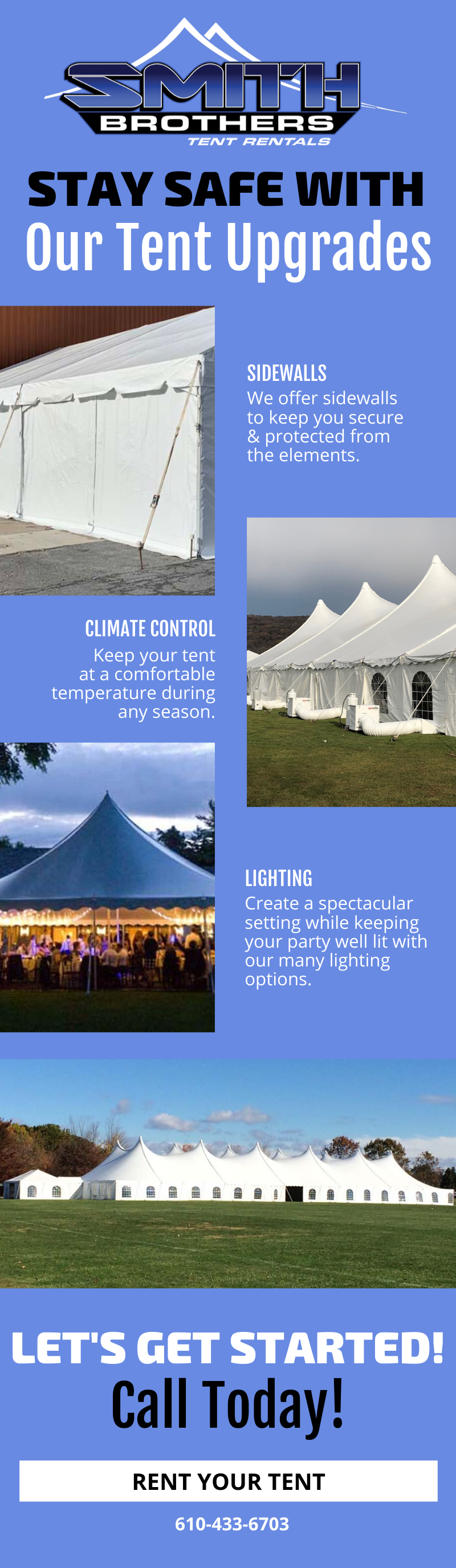 Stay Safe With Our Tent Upgrades